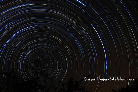 Star trail taken from Punda Maria camp