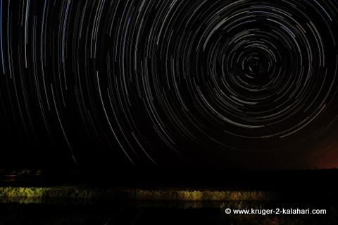 Star-trail from Shimuwini camp Kruger Park