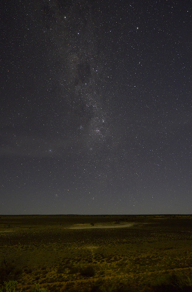 Stars over Polentswa Pan