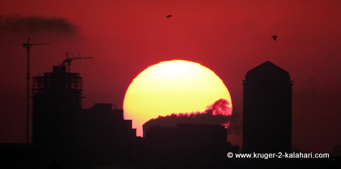 Sunrise over Sandton City
