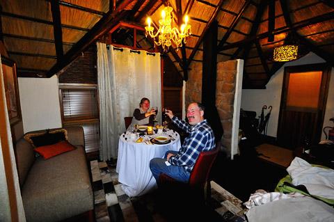 Dinner in Tshukudu Bush Lodge Pilanesberg