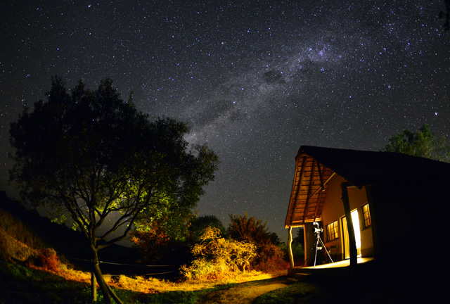 Star points above Umkumbe Lodge