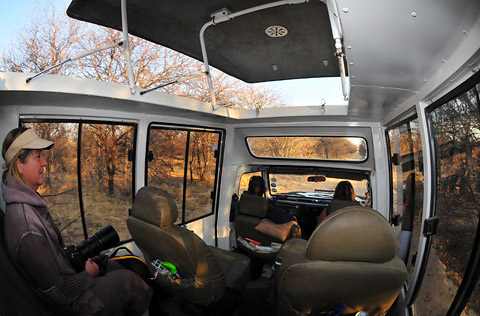 your safari vehicle interior