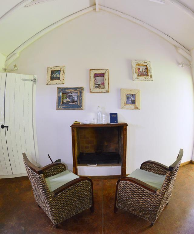 Kalahari Farmhouse fireplace in bedroom