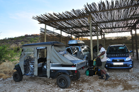 Golf cart at Dolomite camp