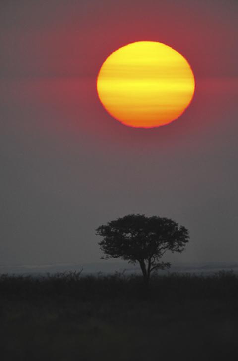 sunrise near halali camp