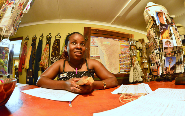 Kalahari Anib Lodge - friendly employee