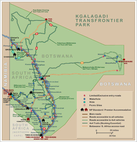 Kalahari Camp Maps