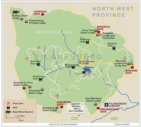 Pilanesberg park map
