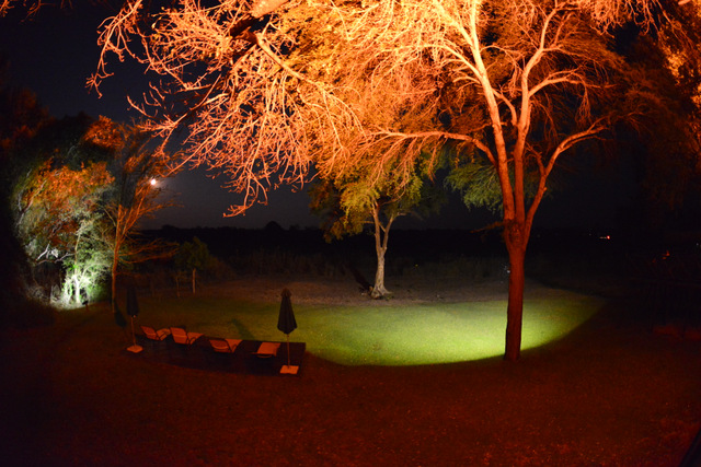 night view in Protea Hotel garden