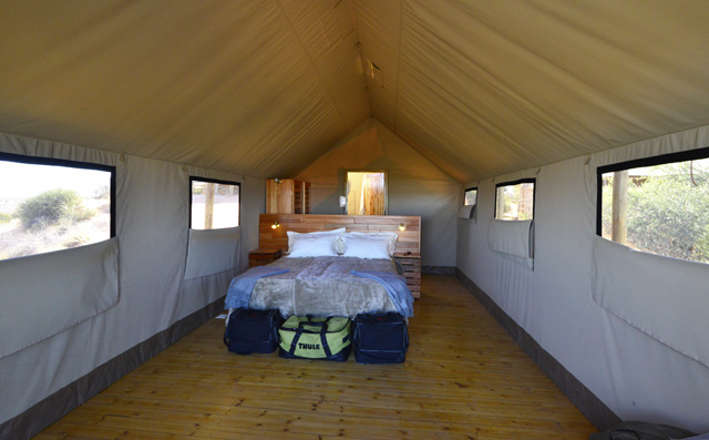 Inside our Polentswa tent