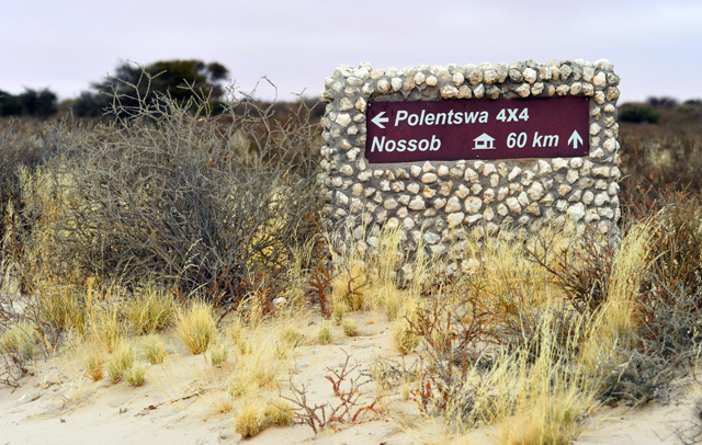 sign to Polentswa Lodge