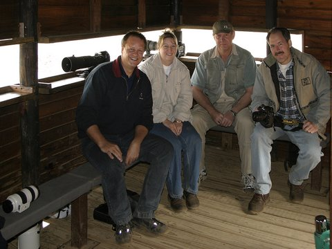 Photo friends - Cay and Gerrie at Ratlogho Hide, Pilanesberg