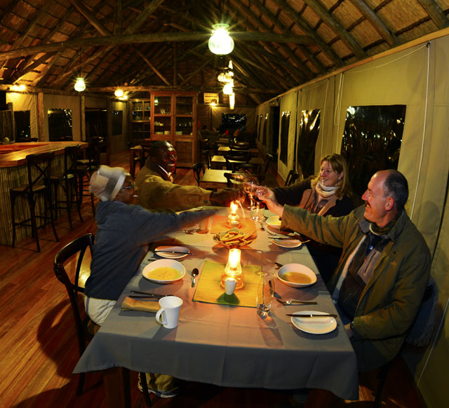 Dinner at Rooiputs with Sets and Martin