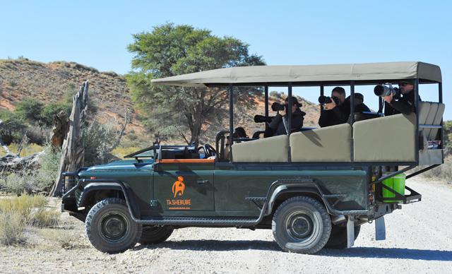 Photographers on guided photo Safari with Darran