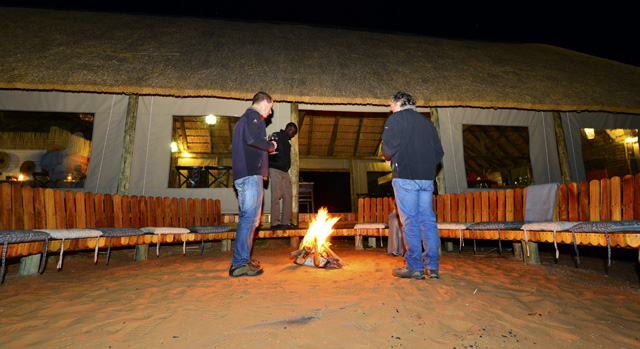 Boma gathering by the fire