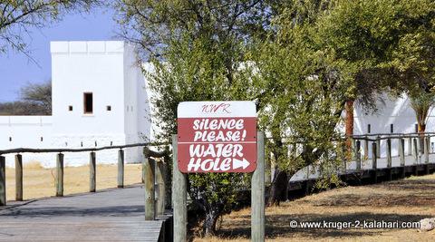 Sign at Namutoni pool