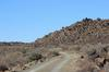 Traveling along the volcanic rock formations.