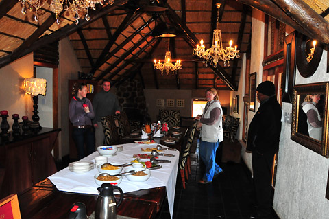 Main Dining Room in Tshukudu Bush Lodge