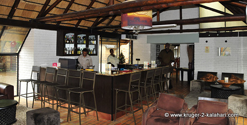 Bar and lounge at Berg en Dal camp Kruger Park