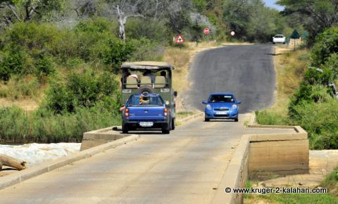 single lane bridge in Kruger Park