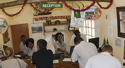 Croc Bridge camp reception
