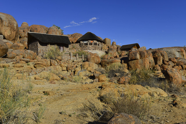 Most of the chalets are built up on the rocks
