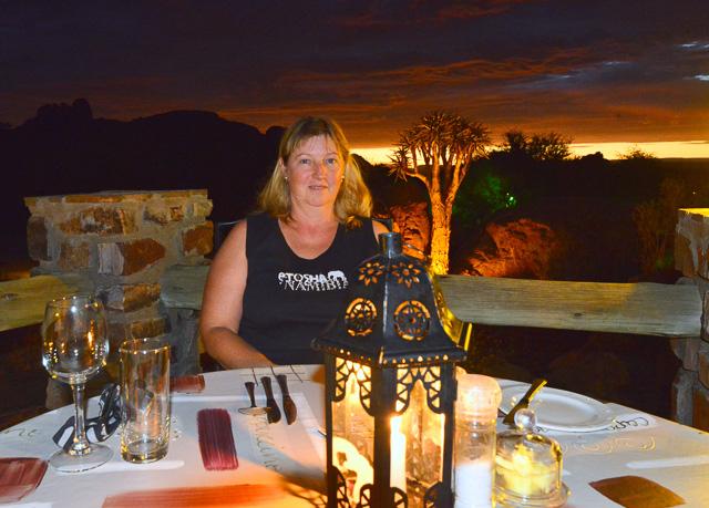 Dinner on the terrace again
