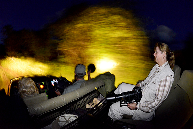 Cheetah Plains night drive