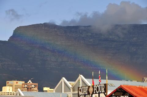 Rainbow at Table Mountain