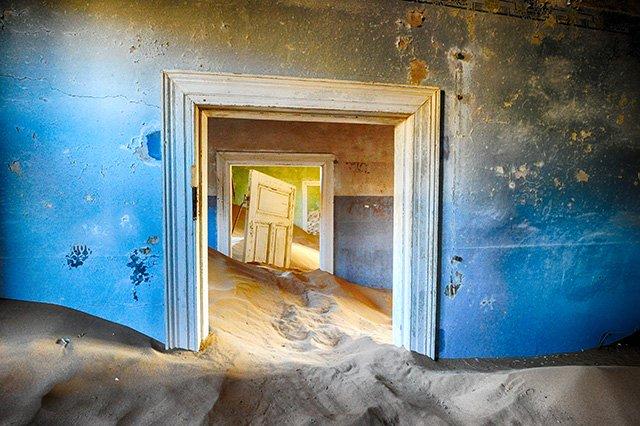 House at ghost town of Kolmanskop