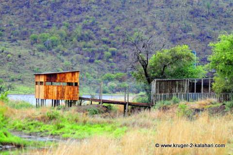 The newly rebuilt Makorwane hide, Pilanesberg