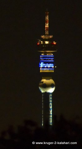 Hillbrow tower with soccerball