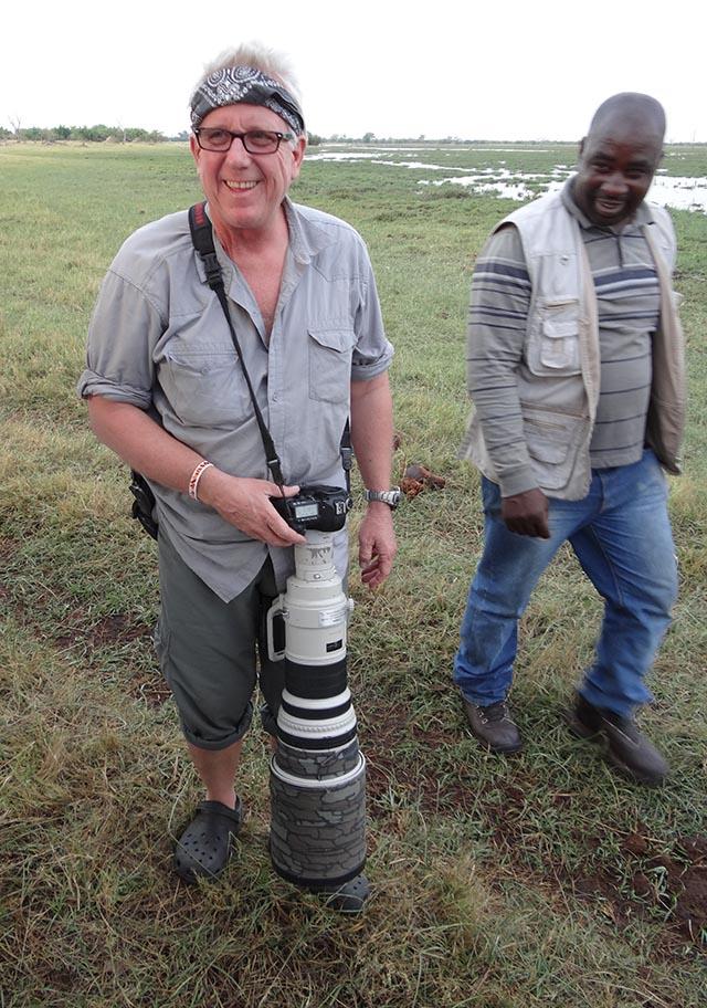 Steve Winter on safari with Kathryn