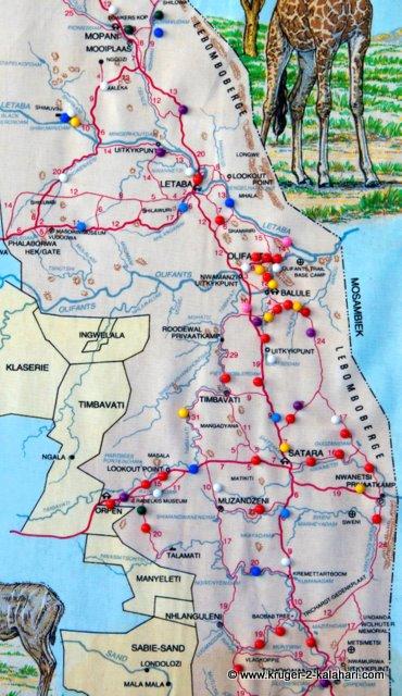 Kruger central map