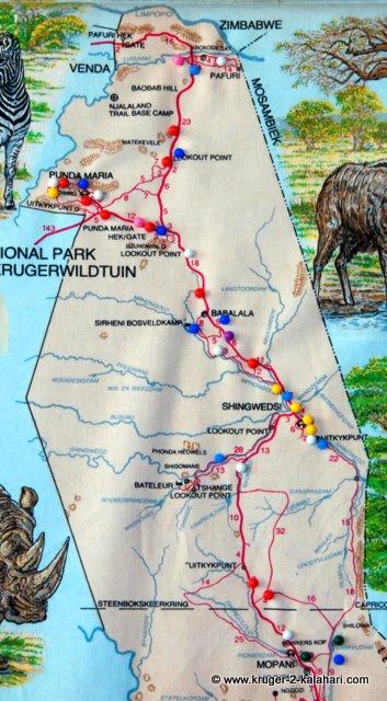 Kruger north map