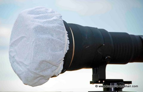 Shower cap protecting your gear from dust