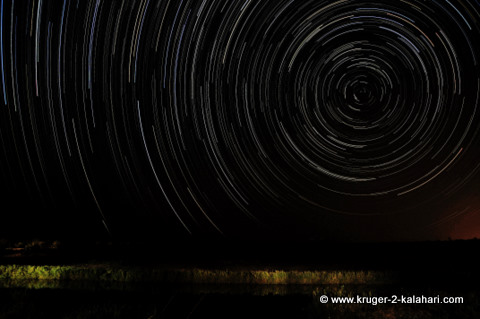 Star-trail from Shimuwini camp Kruger Park