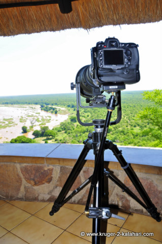Manfrotto 475B Tripod being used at Olifants Camp
