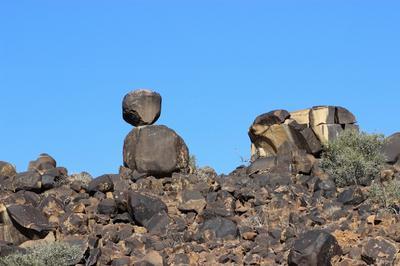 Volcanic rock formation on Koppieskraal.