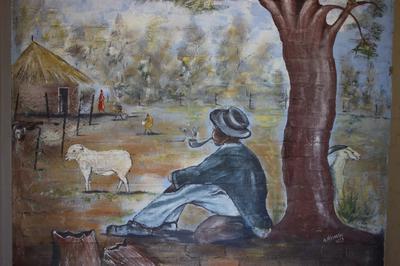 A painting on the entrance wall of Klipkolk Lodge.