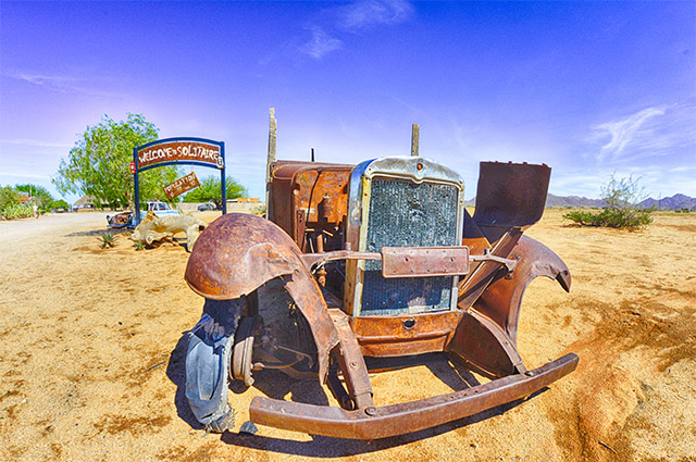 Desert car at Solitaire