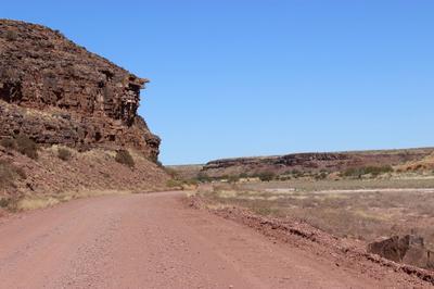 The cliffs of Swartmodder.