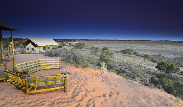 View from lodge over Polentswa pan