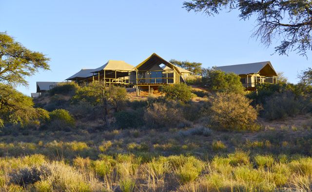View from road of Polentswa Tented Lodge