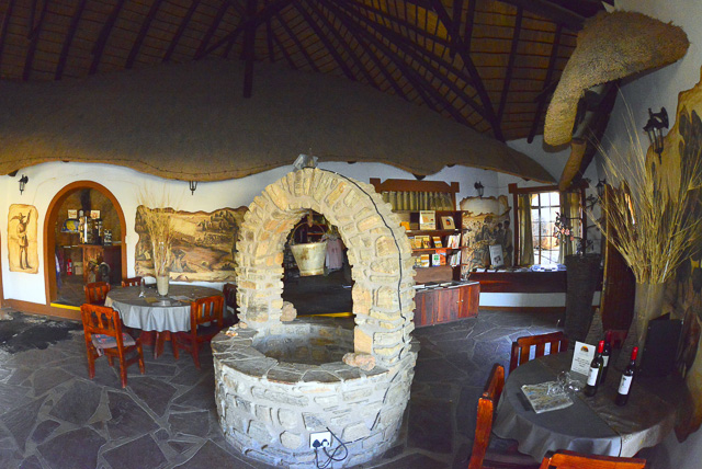 Old well in the dining area